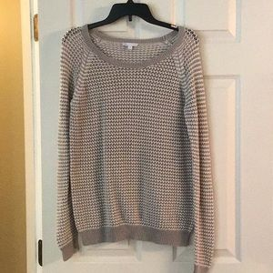 Gap Gray/Off White Sweater